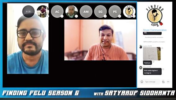 Walk Calcutta Walk's Finding Felu virtual session with mountaineer Satyarup Siddhanta