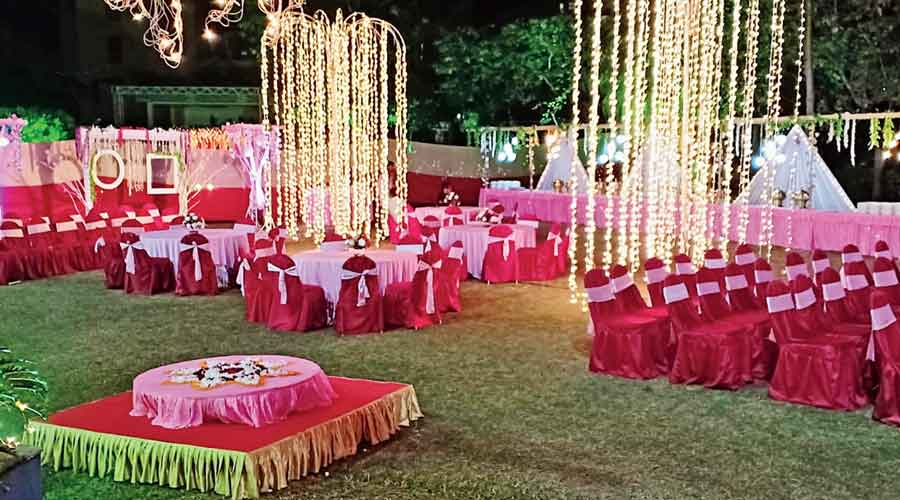 An outdoor venue off EM Bypass decked out to host a party