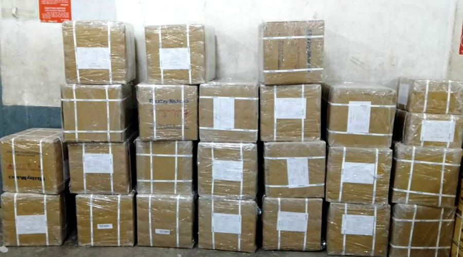 Parcels ready to despatch at Dhanbad railway station on Tuesday.