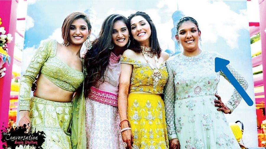 (L-R) Sisters Shakti, Mukti, Neeti and Kriti