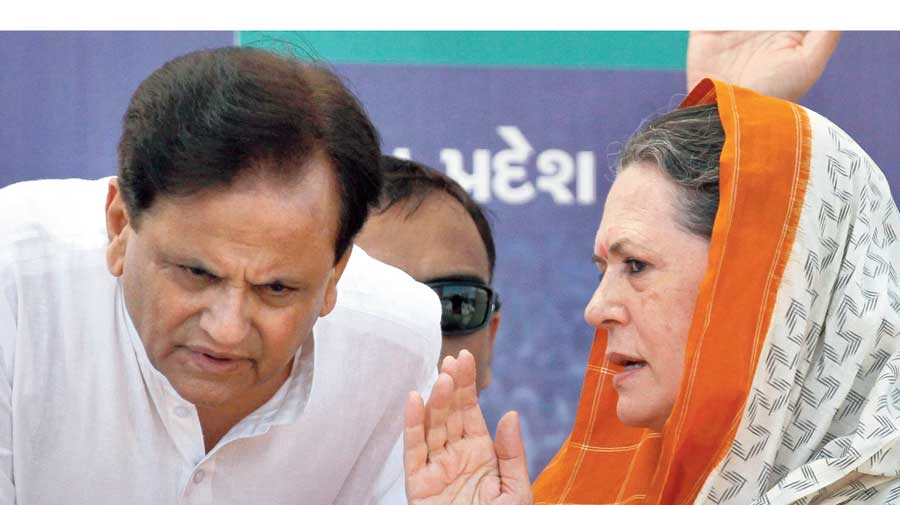 Ahmed Patel with Sonia Gandhi in 2012.