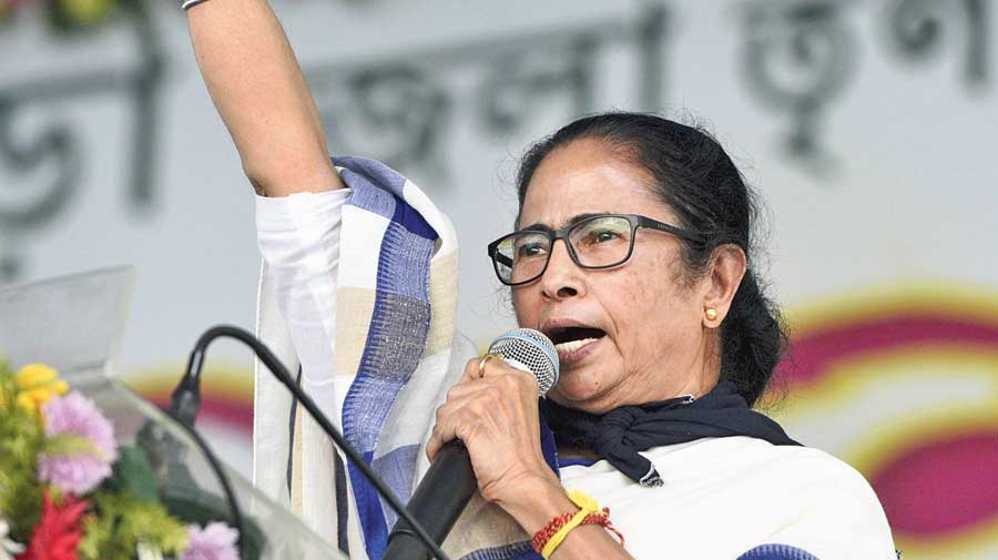 The rally at the Midnapore College Ground was held at a time when the rift between the TMC and Suvendu Adhikari has widened.