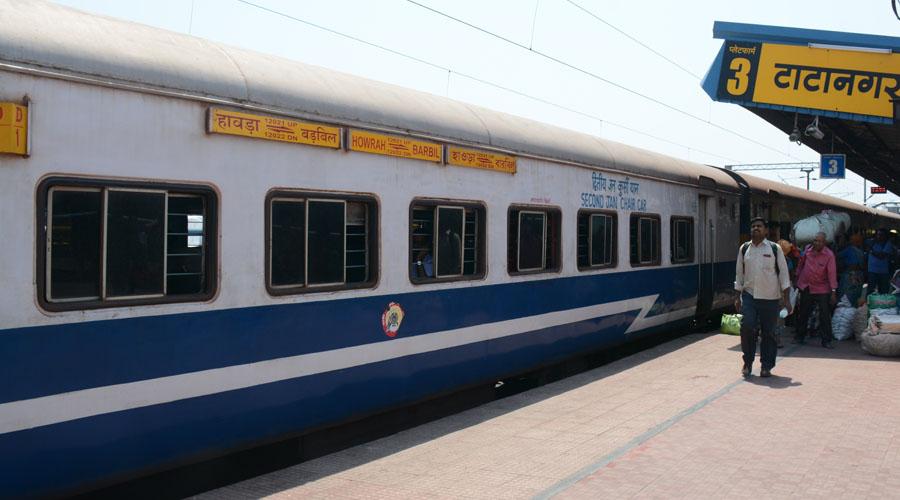 The Howrah-Barbil Jan Shatabdi Express at Tatanagar railway station in September this year.