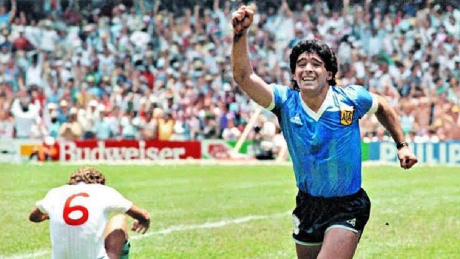 Diego Maradona's 2nd goal against England in the 1986 world cup quarter final