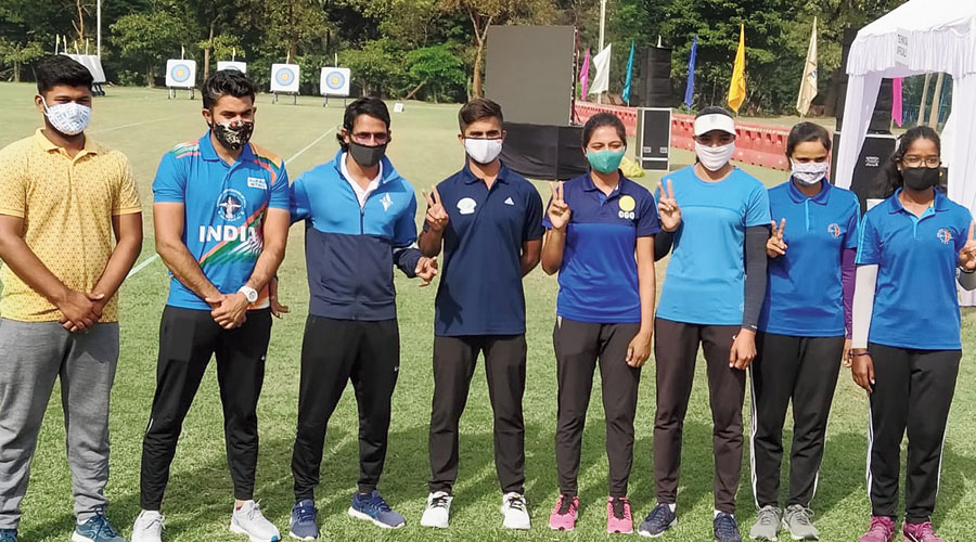 The eight archers selected after the three-day national selection trials at JRD Tata Sports Complex in Jamshedpur on Thursday.