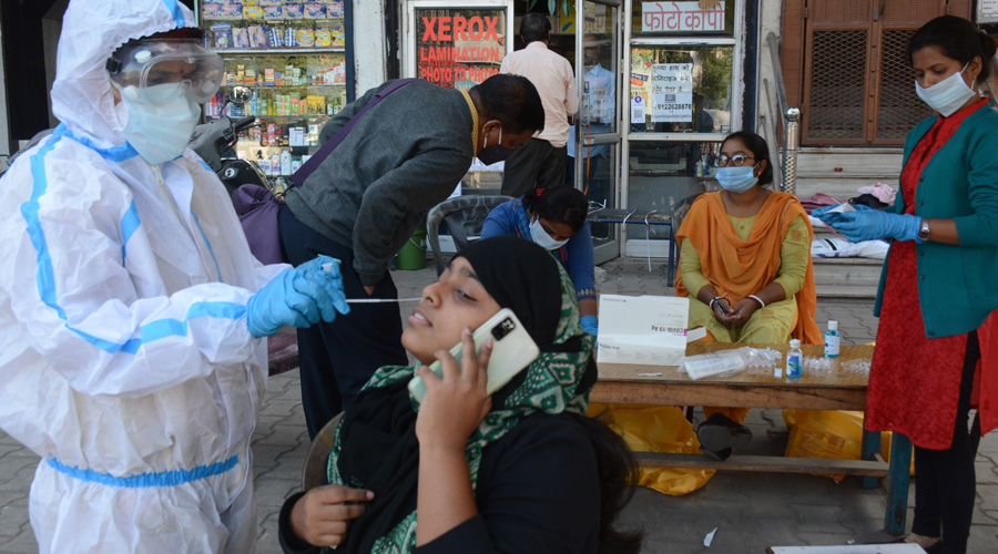 According to the ICMR, 24,90,19,657 samples have been tested up to April 4 with 8,93,749 samples being tested on Sunday.