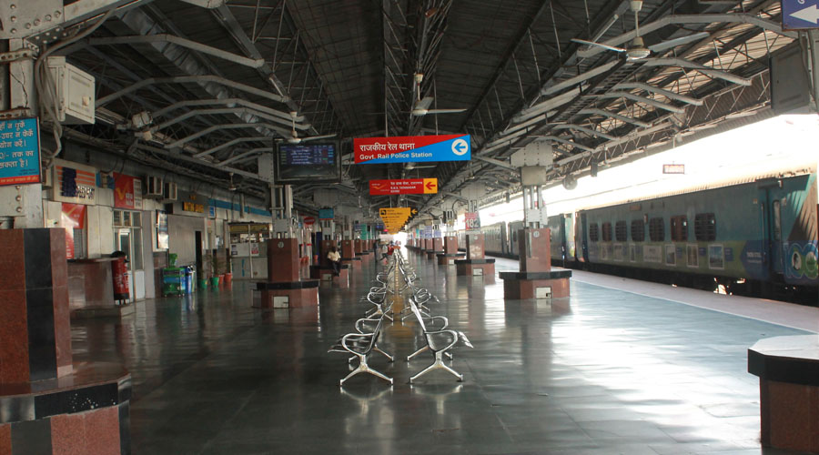 Tatanagar railway station in Jamshedpur earlier in the month of November.