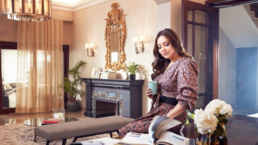 Gauri Khan at her Delhi home
