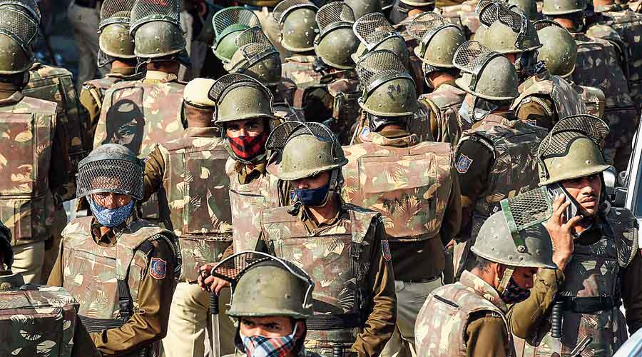 Security ramped up at the Singhu border to prevent the farmers  from entering Delhi