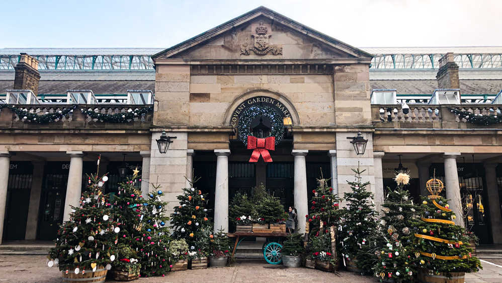 November, 2020: Entrance to Covent Garden Market, London.