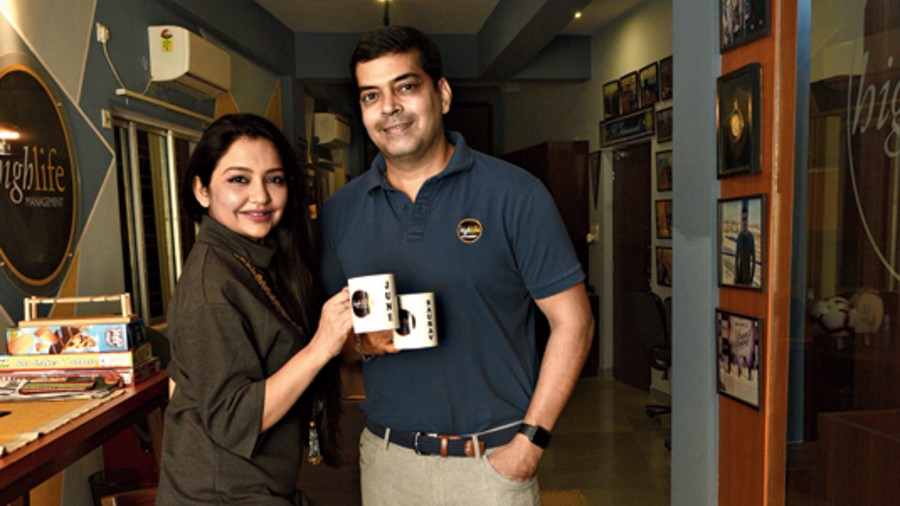 June and Saurav at the office