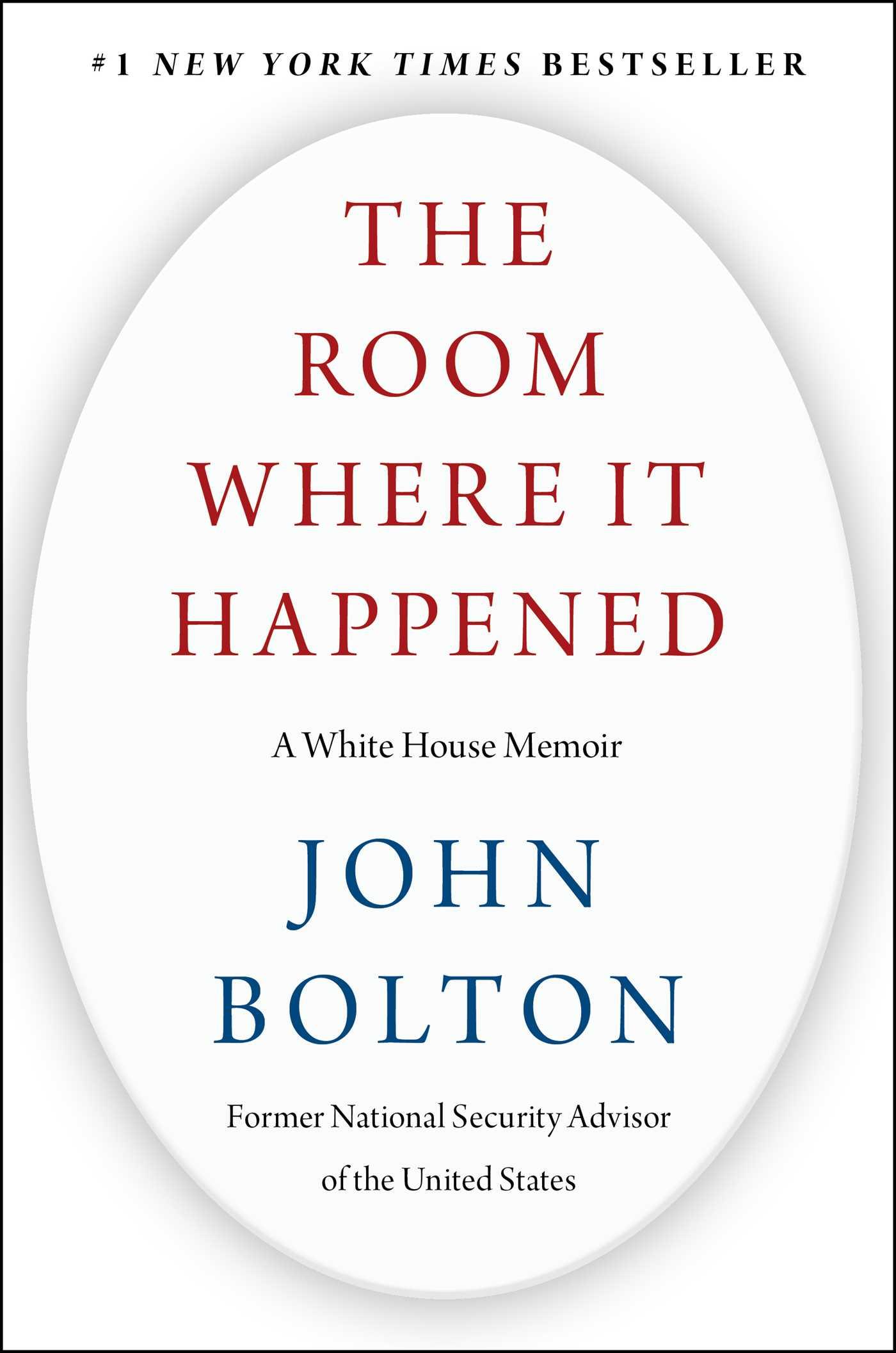 The Room Where It Happened: A White House Memoir byJohn Bolton,Simon & Schuster, Rs 899