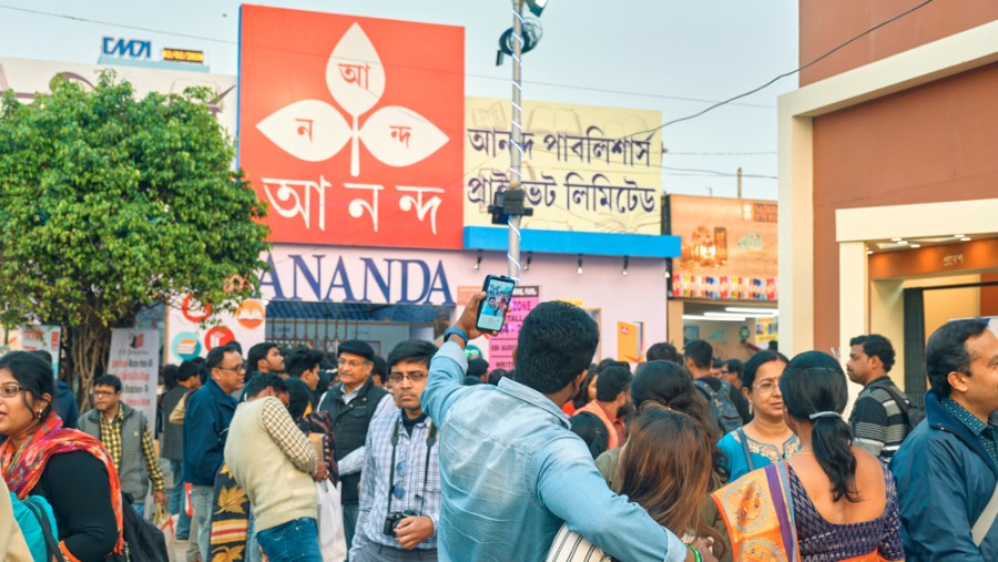 The Ananda Publishers stall at the Calcutta Book Fair 2020
