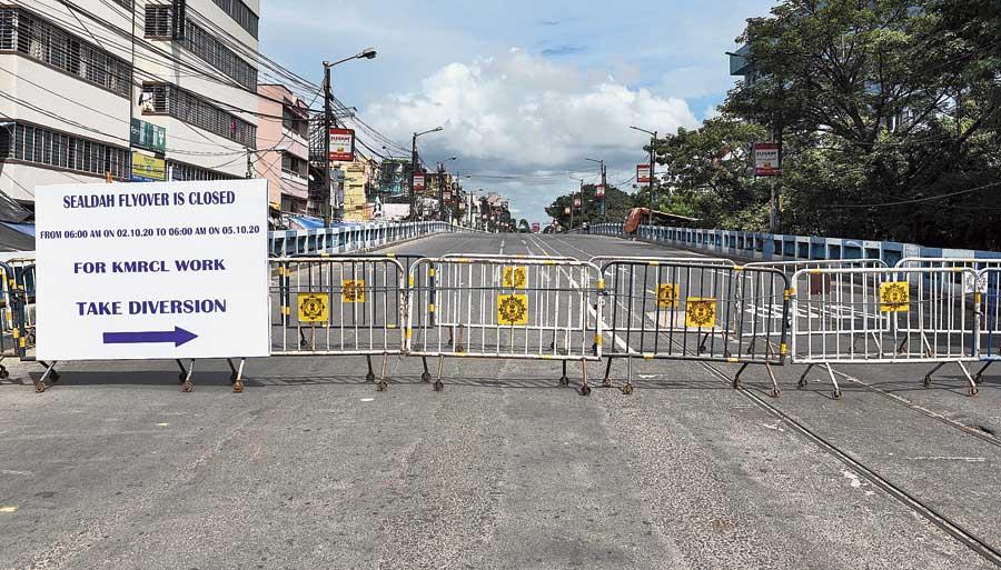 Sealdah flyover closed on Friday.