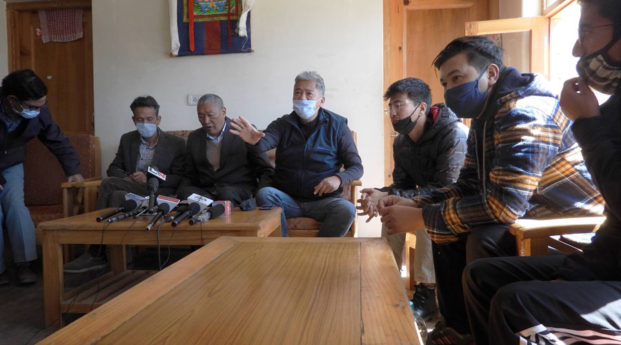 The apex body of Ladakh People's Movement condemned the recent statement of China on the Union Territory status of Ladakh in Leh on Friday.