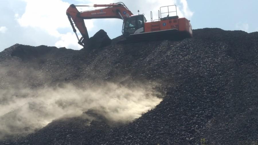 Fire in coal stocks in Barkagaon.