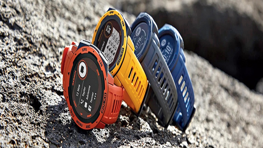 Garmin Instinct Solar is a GPS smartwatch that takes battery life to a new level by harnessing the power of the sun.