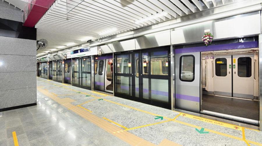 A Metro rake that was flagged off at Phoolbagan station on Sunday