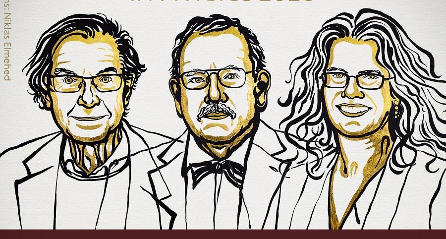 Roger Penrose, Reinhard Genzel and Andrea Ghez
