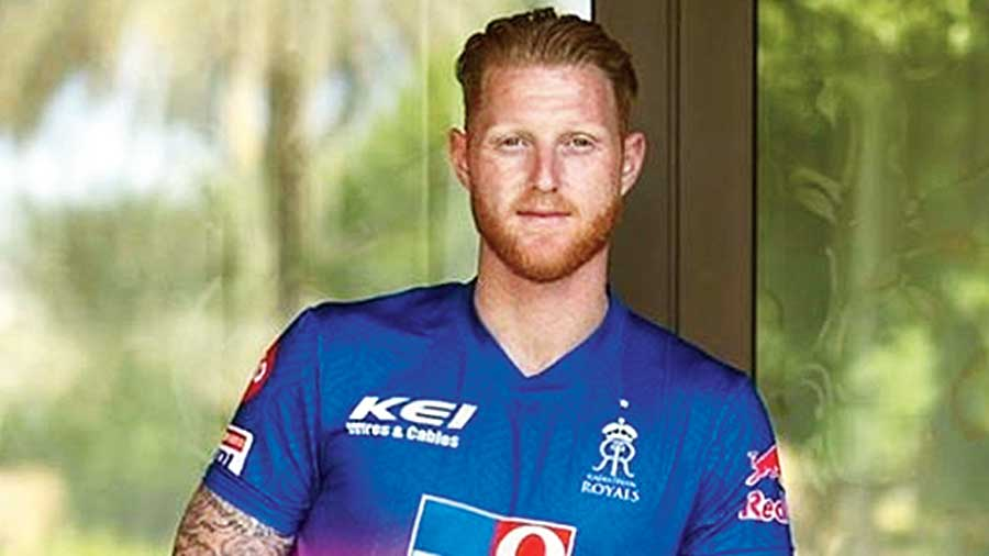 Ben Stokes after arriving in the UAE.