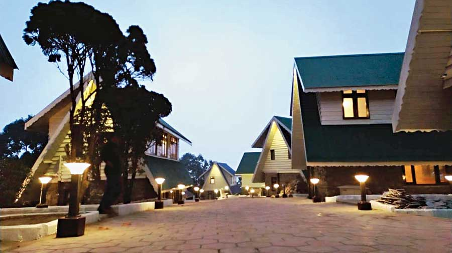 Some of the renovated Swiss cottages at Mirik.
