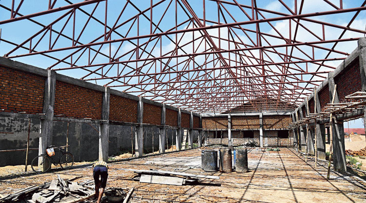 Under-construction detention centres, at Kadamtola Gopalpur village in Goalpara district of Assam on August 29, for those not included in the NRC.