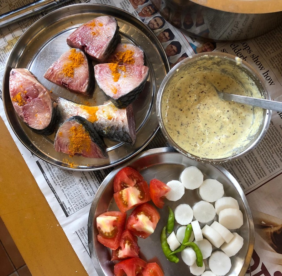 GULP THAT: Ilish being cooked with radish and tomato