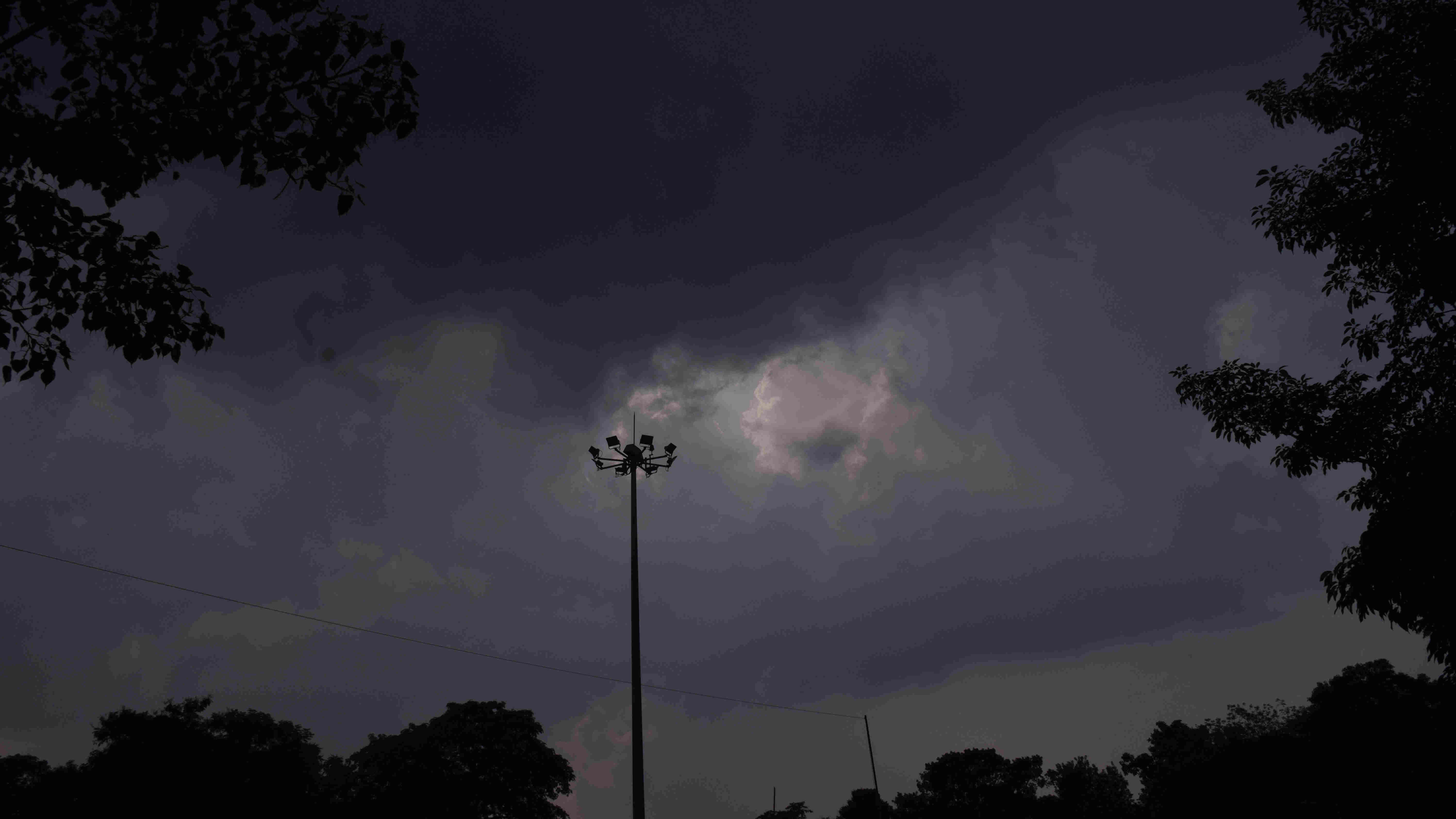 Cloud cover over Sakchi in Jamshedpur on Sunday.