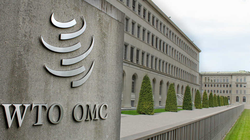 World Trade Organization, WTO or OMC, in Geneva, Switzerland.