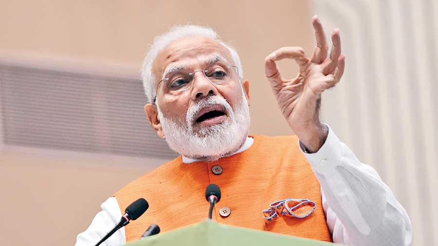 Narendra Modi's address is a part of the BJP's continuous endeavour to strike the right chord with the electorate in the state.