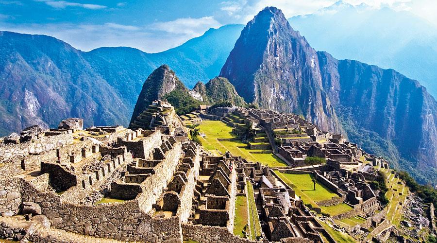 The ruins of Machu Picchu in Peru