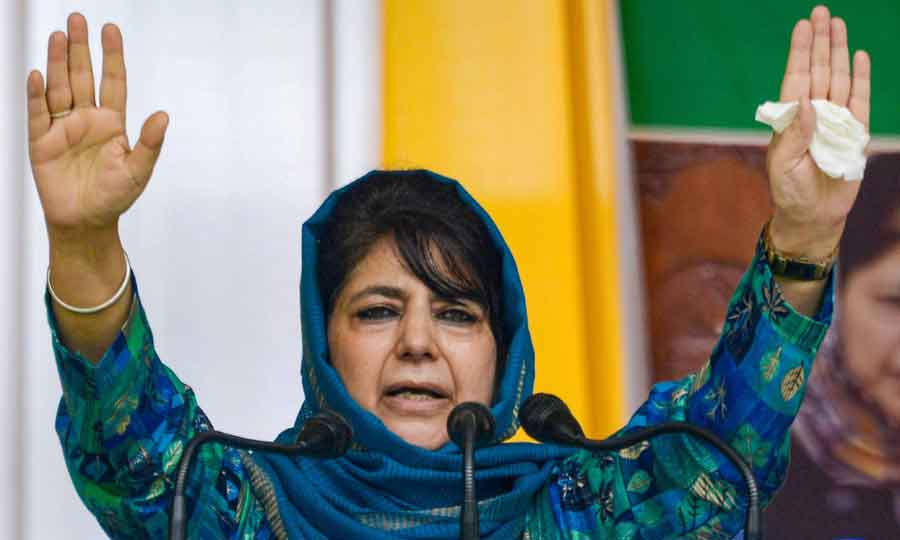 Former Jammu and Kashmir chief minister and Peoples Democratic Party (PDP) chief Mehbooba Mufti