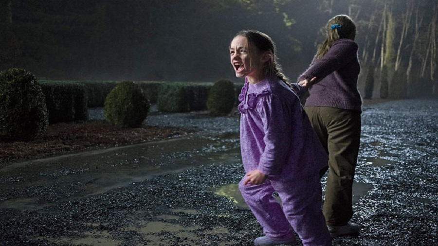 Painful and poignant: Amelie Bea Smith and Victoria Pedretti in The Haunting of Bly Manor, streaming on Netflix