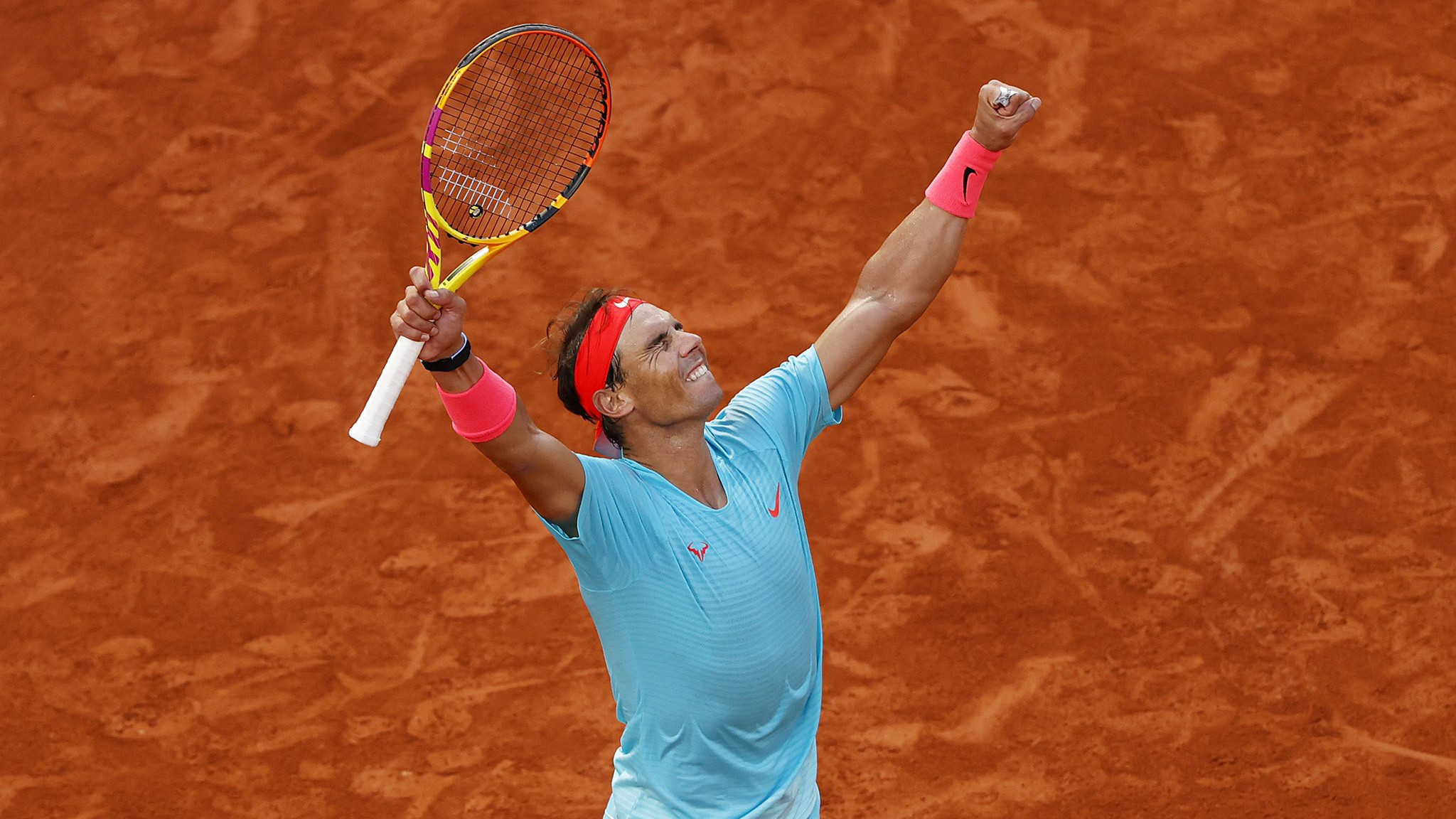 A victorious Nadal.