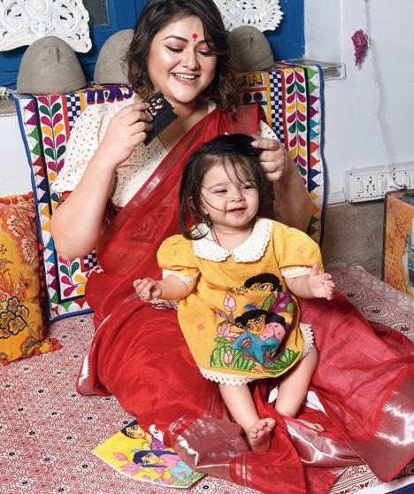 Koneenica Banerjee and daughter Antahkarana