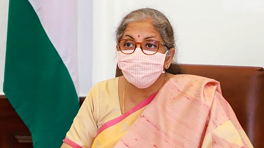 Finance Minister Nirmala Sitharaman participates in the Plenary Meeting of the International Monetary and Financial Committee of the IMF meetings through video conferencing.