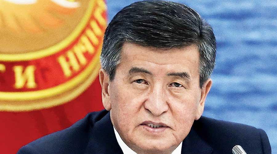 Kyrgyz President Sooronbai Jeenbekov.