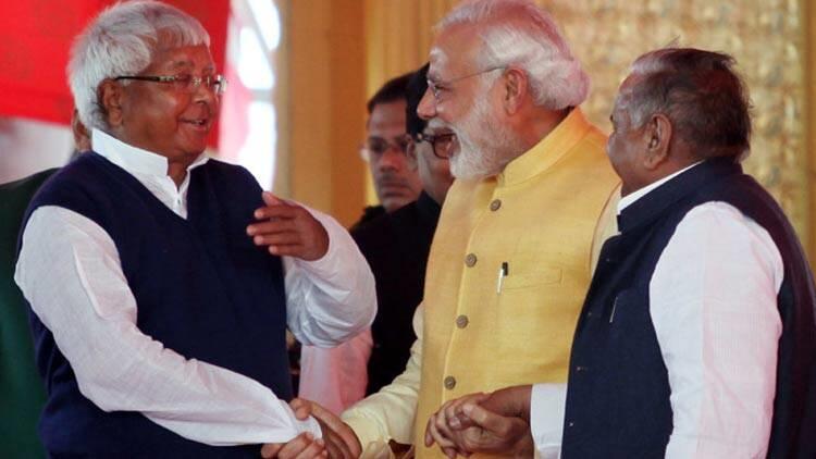 Lalu Prasad Yadav and Narendra Modi.