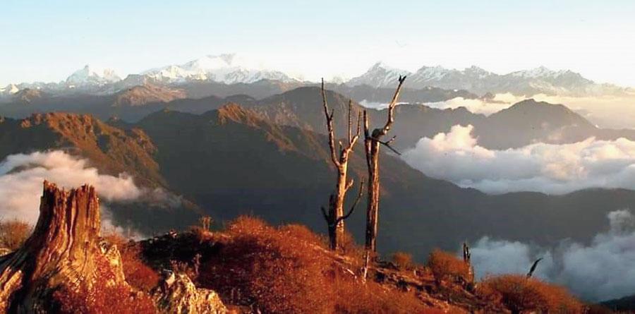 Phoktey Dara in West Sikkim.