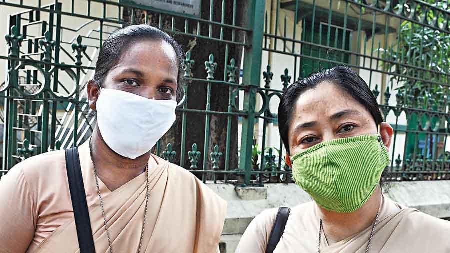 Sister Jayshree (left) and  SisterPranita Lepcha