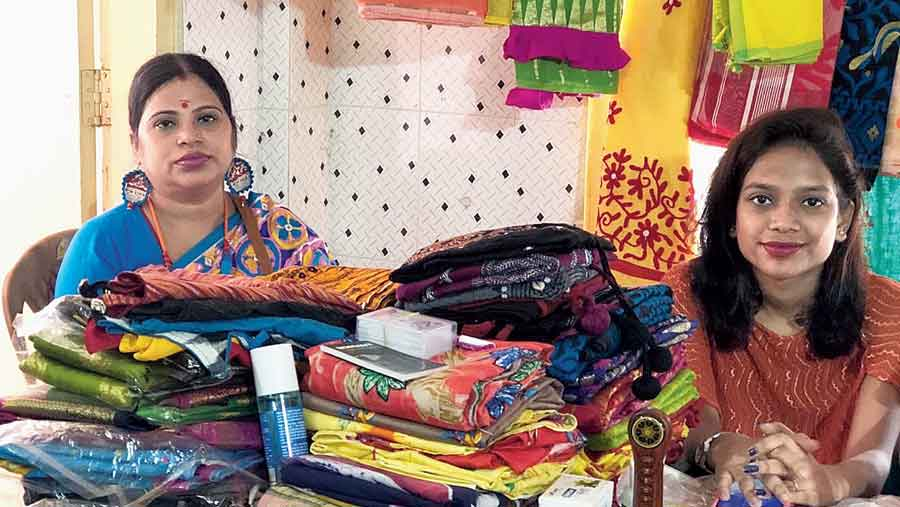Items on display at the Rupang Dehi urban haat that was organised recently in Siliguri