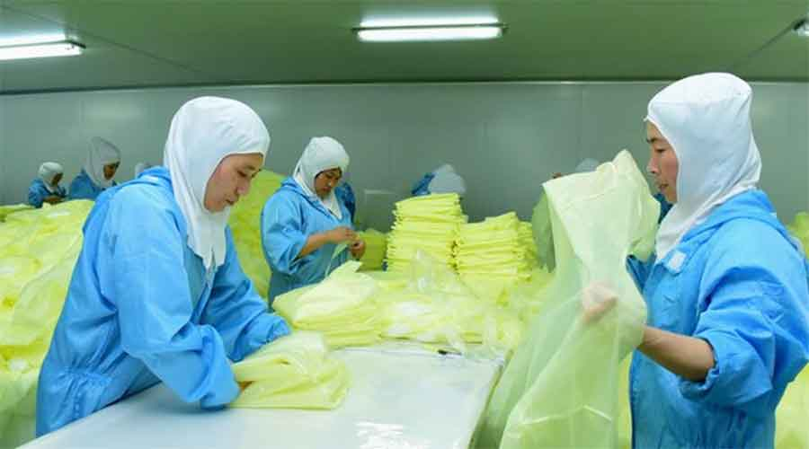 Chinese companies are making up a greater share of the world's exports, manufacturing consumer electronics, personal protection equipment and other goods in high demand during the pandemic.