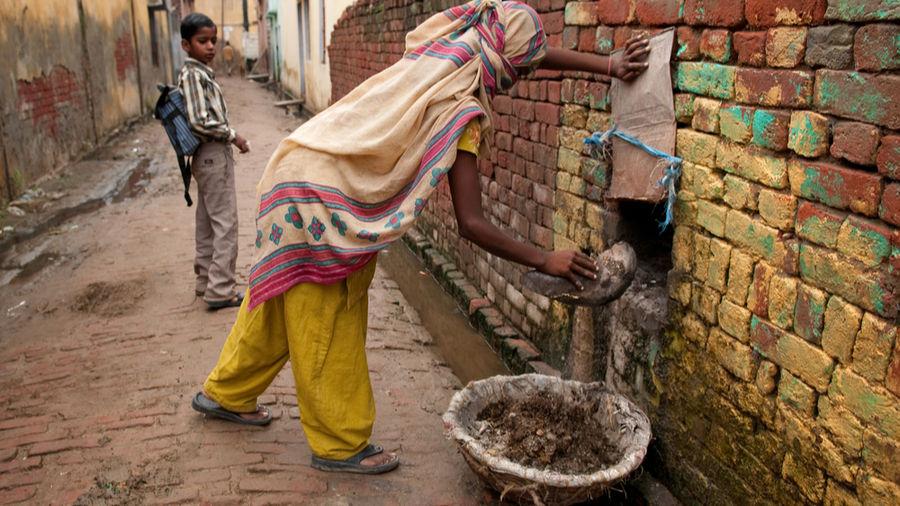 A dalit woman forced into manual scavenging, Panipat, Haryana.