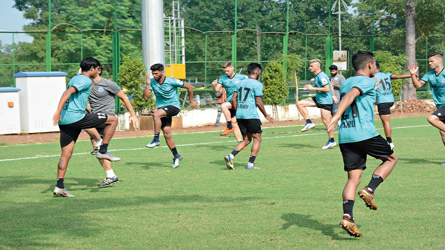 JFC players train at Flatlet ground in Kadma, Jamshedpur, earlier this year