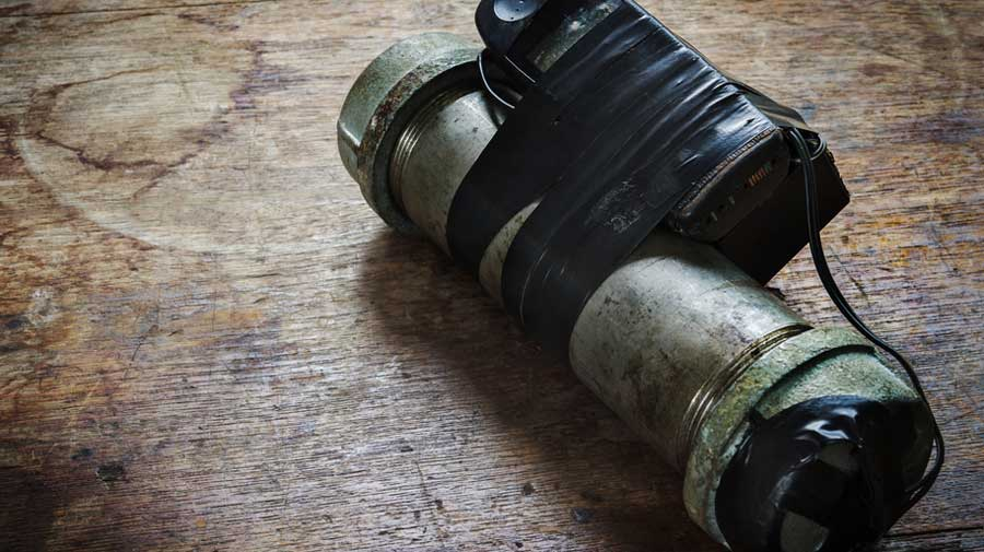 Residents of Champanagari village in Dubrajpur block alleged that crude bombs stocked at the two-room building by criminals had exploded.