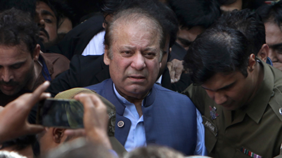 Former Pakistani Prime Minister Nawaz Sharif .