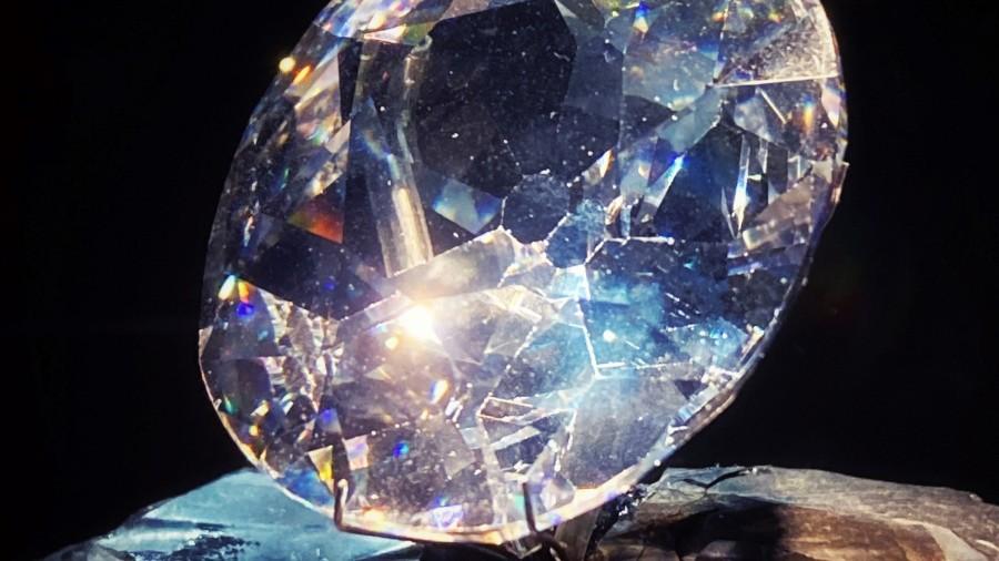Replica of the Kohinoor diamond at Prince of Wales Museum of Western India, Mumbai