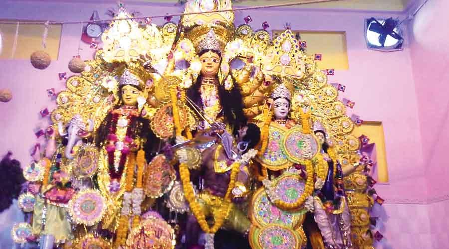 The Durga idol worshipped in 2019