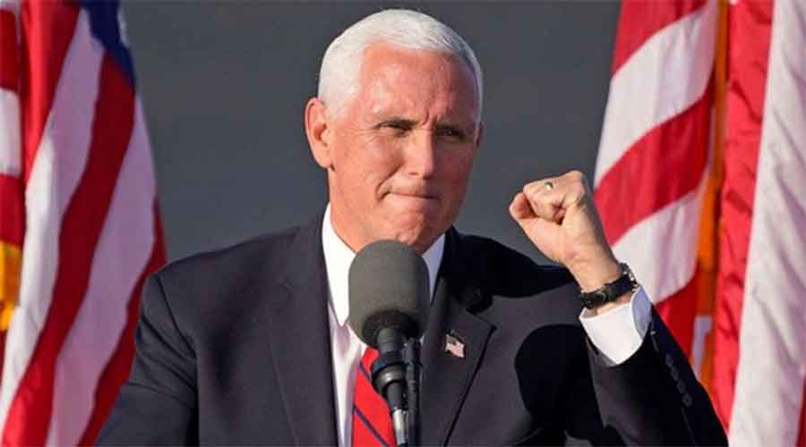 Pence plans to continue to operate as an essential worker and plans to travel again on Sunday.