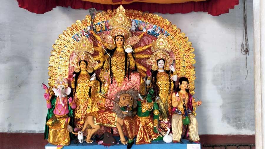 The Durga Puja at the Nimtita Rajbari in Murshidabad